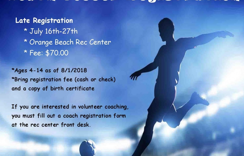 2018 Fall Soccer Registration