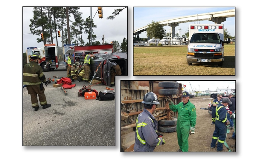 Southern Tow Expo wreck simulation event photos