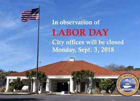 2018 Labor Day city offices closing