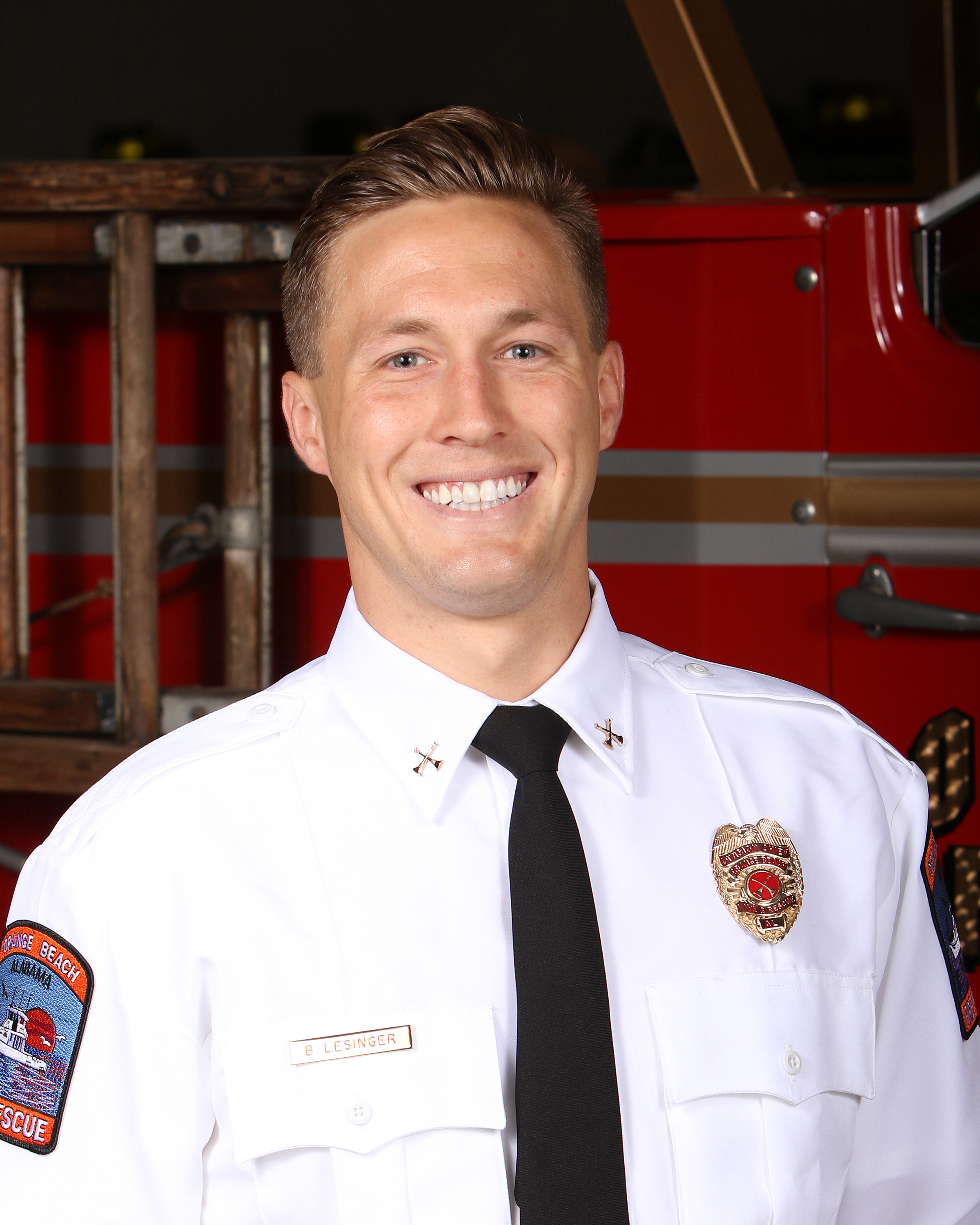 Orange Beach Fire Beach Safety Division Chief Brett Lesinger