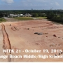 Week 21 aerial photo of Orange Beach school construction site, October 19, 2018