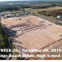 Week 26 aerial photo of Orange Beach school construction site, November 20, 2018