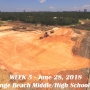Week 5 aerial photo of Orange Beach school construction site, June 28, 2018
