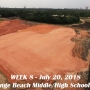 Week 8 aerial photo of Orange Beach school construction site, July 20, 2018