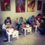 Pottery wheel class at Clay Studio at Coastal Arts Center of Orange Beach
