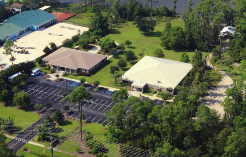 Aerial view of Orange Beach Adult/Senior Center