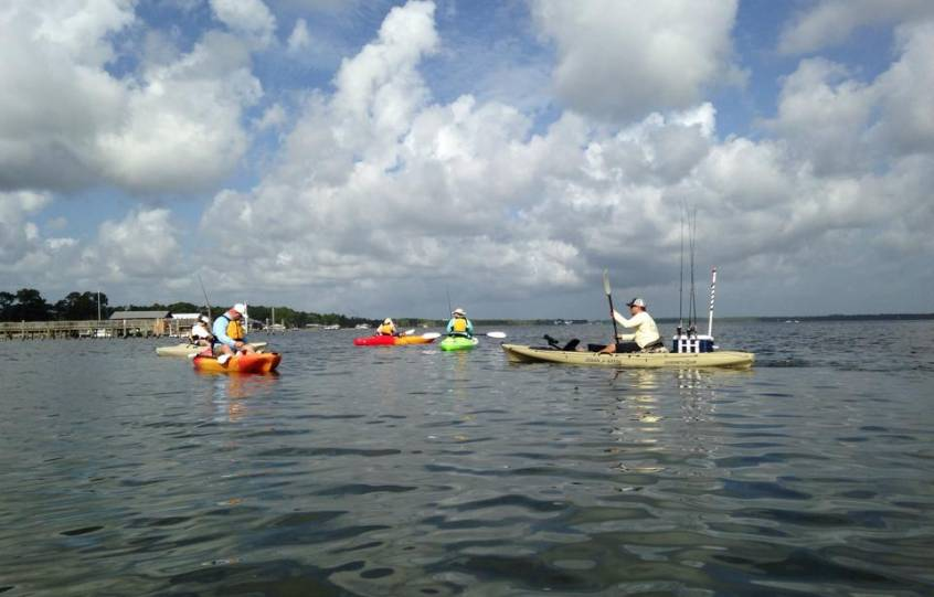 Kayak Fishing as part of City of Orange Beach Wind & Water Learning Center