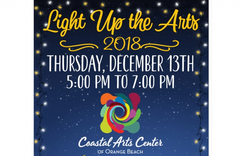2018 Light Up the Arts graphic