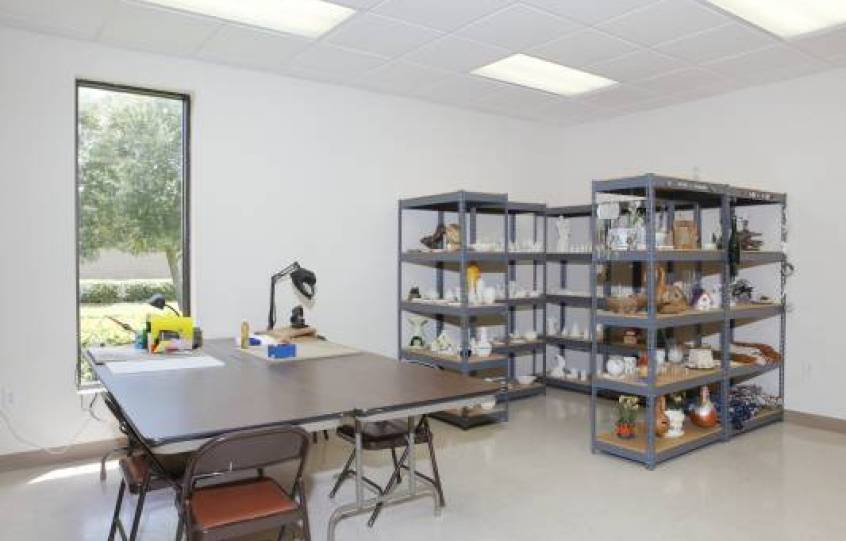 Craft room at Orange Beach Adult/Senior Activity Center