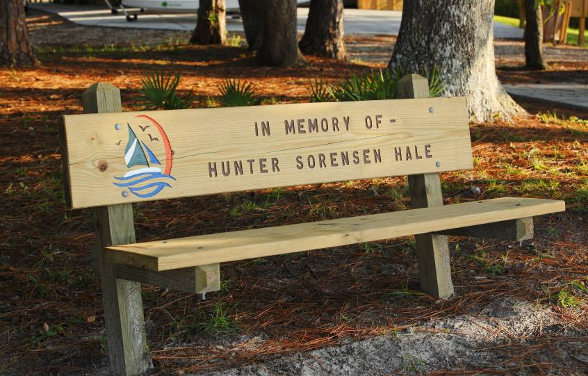 Bench at City of Orange Beach Wind & Water Learning Center