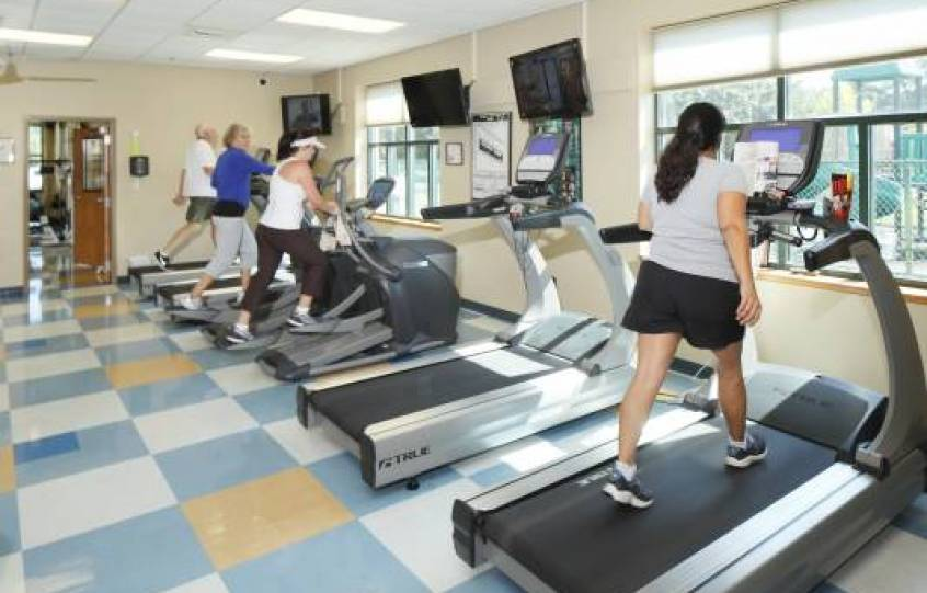 Photo of treadmills at Orange Beach Recreation Center