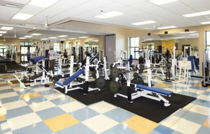 Photo of weight room at Orange Beach Recreation Center