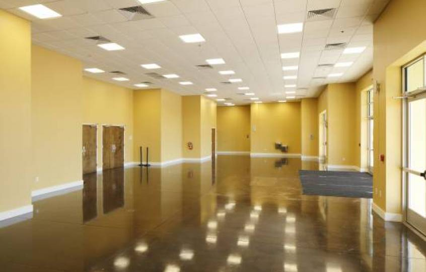Spacious lobby of the Orange Beach Event Center
