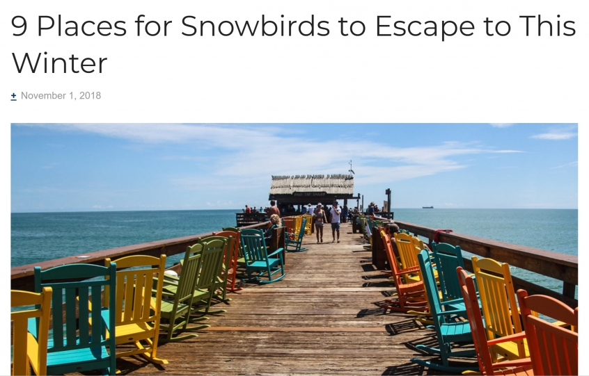 Expedia-AARP 9 Places for Snowbirds to Escape this Winter