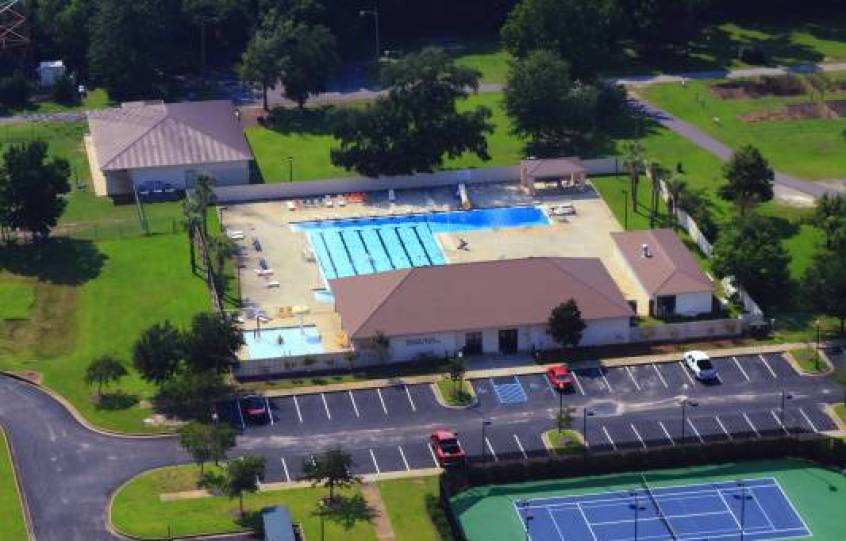 City of Orange Beach Aquatic Center aerial view