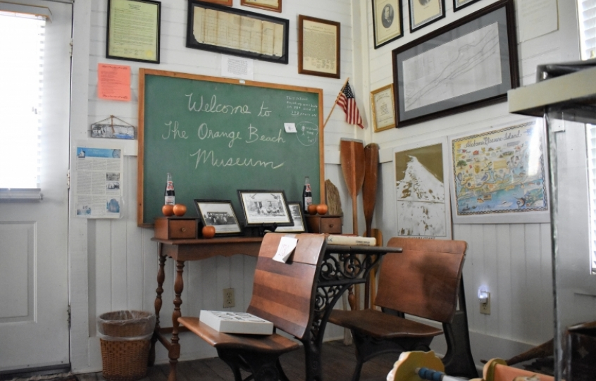 Inside the Orange Beach Indian and Sea Museum
