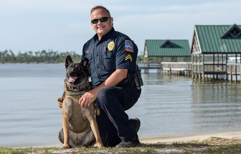 Corporal Binion and K9 Perseus