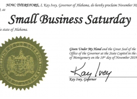 Governor Ivey Proclaims Small Business Saturday