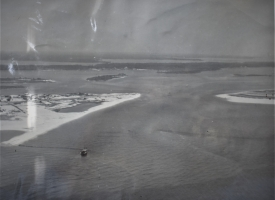 Aerial photo of Perdido Pass as it appeared in 1958