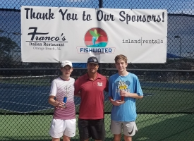B16s Finalist Jay Murray of Mobile and Champion Bradley Pouncey of Enterpise