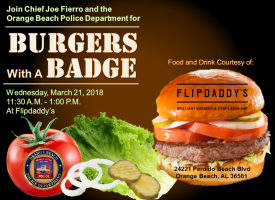 Burgers with a Badge flyer