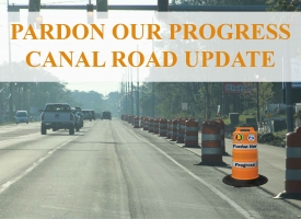 Canal Road update graphic for April 21, 2021