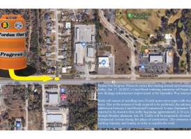 Pardon Our Progress: Road work around intersection of Canal Road and Spinnaker Way