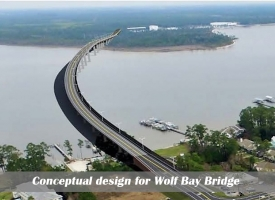 Conceptual design for Wolf Bay Bridge