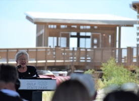 Governor Kay Ivey at Gulf State Park