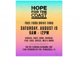 Hope for the Coast food distribution event set for August 15