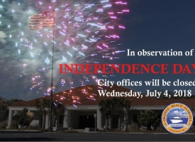 Independence Day 2018 closing Orange Beach