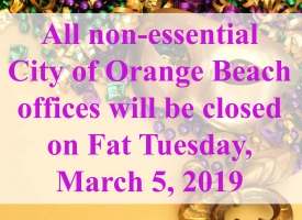Mardi Gras closing graphic