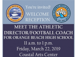 Welcome reception set March 22 OBHS athletic director