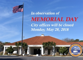 Memorial Day 2018 closings graphic