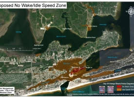 Map shows where State of Alabama expanding no-wake zone to Terry Cove in Orange Beach