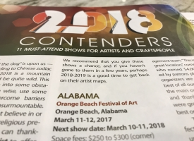 Orange Beach Festival of Art in Sunshine Artist magazine