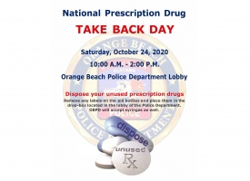 OBPD 2020 National Prescription Drug Take Back Day flyer