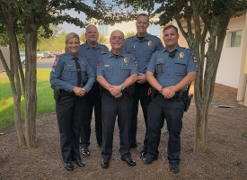 "Chief Brown recognized Sgt. Lisa Johnson, Sgt. Brian Kincaid, Cpl. Michael ""Brent"" McBrayer and Cpl Guy ""Brandon"" Oliver."